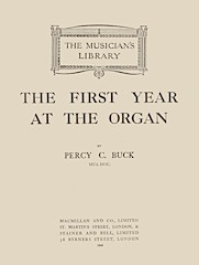 The First Year at the Organ by Percy Buck