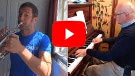 "Andy Harris (""Trumpet Man"") and Fergus Black perform Stanley's Trumpet Voluntary"
