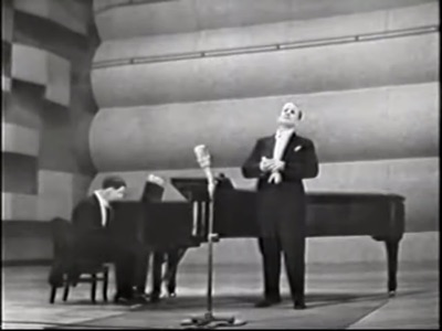 Tenor Peter Pears with Benjamin Britten in concert, off YouTube